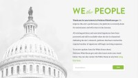 White House temporarily shuts down 'We the People' petition site