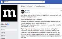 Mozilla Hits Pause On Facebook Ads, Cites User Data Policies