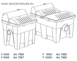 UVC-Teichfilter F 3000 / F 6000 / F 9000 / F 12000 Gardena