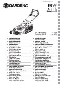 Gardena-PowerMax-1800-42 Bedienungsanleitung