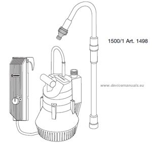 Battery Pump 1500/1 | User manual