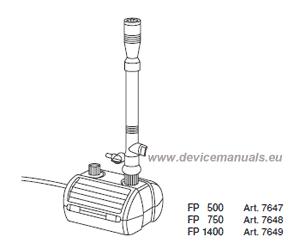 Fountain Pump Set FP 500 / FP 750 / FP 1400