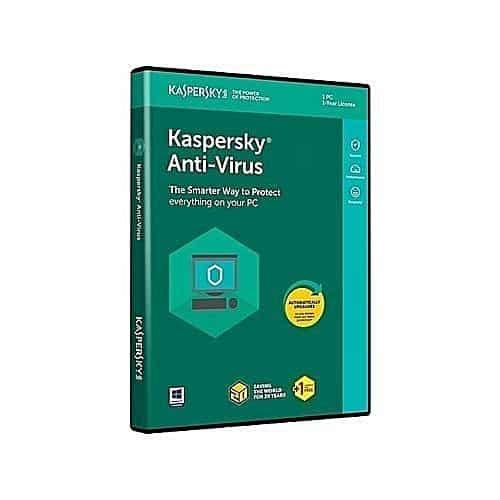 Kaspersky Antivirus 1 User + 1 Year License