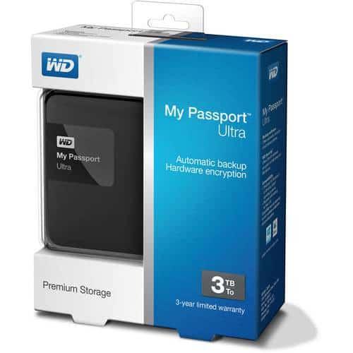 WD My Passport Ultra 3TB USB 3.0 Hard Drive