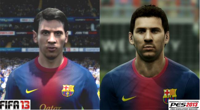 PES 2013 vs FIFA 13 Leo Messi