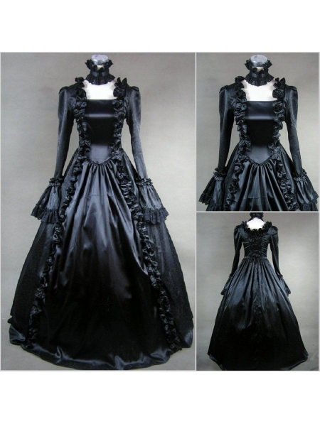 Black Masquerade Gothic Ball Gowns