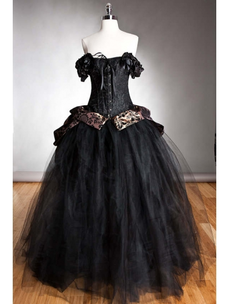 Romantic Gothic Corset Prom Dresses From