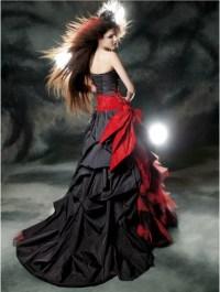 Black Lace Gothic Wedding Dress   newhairstylesformen2014.com