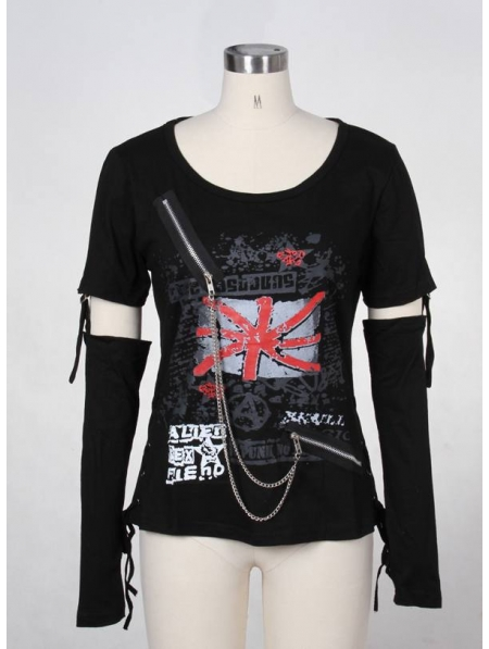 Black Punk TShirt for Women  Devilnightcouk