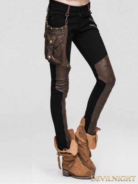 Steampunk Pants With Coffee Pocket For Women Devilnight