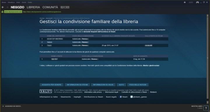 screenshot steam: gestione dispositivi