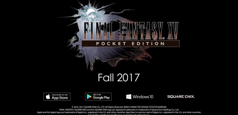 Square Enix annuncia Final Fantasy XV: Pocket Edition