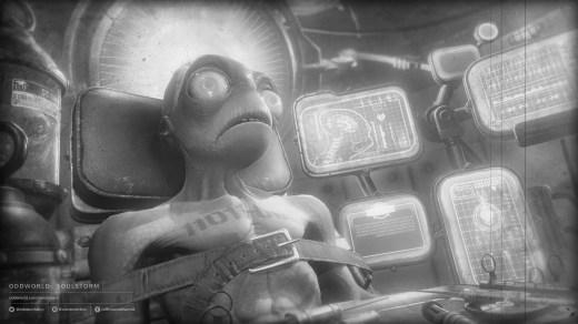 Oddworld: Soulstorm, lavoratore durante un interrogatorio poco piacevole