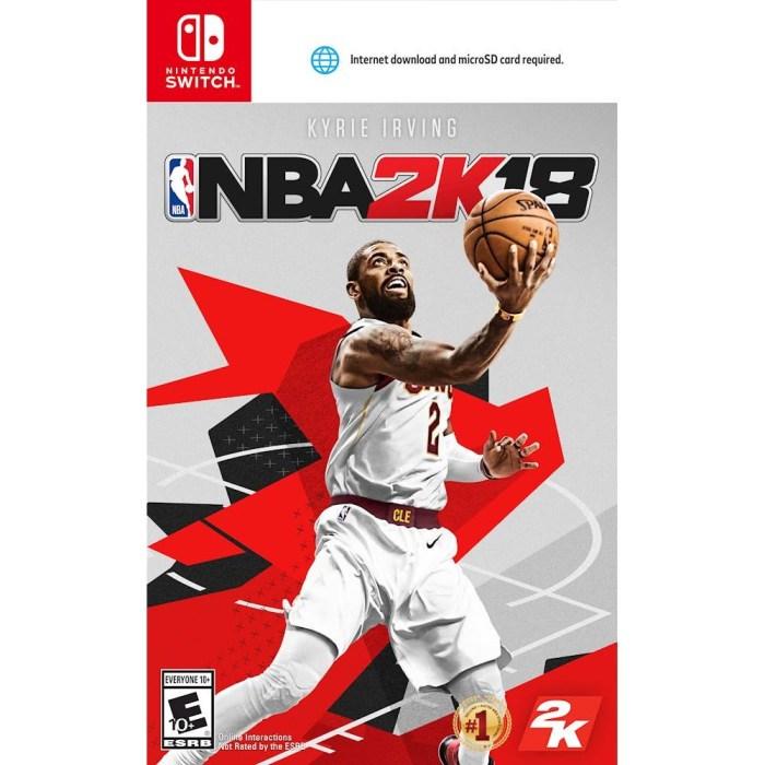 Copertina aggiornata NBA 2K18 Nintendo Switch