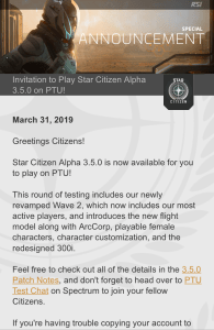 star citizen ptu