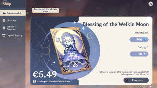 Genshin Impact: Blessing of the Welkin Moon