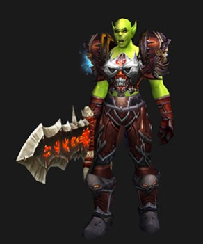 Plate Transmog: Red Face (Orc)