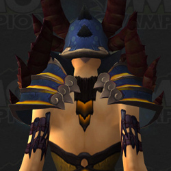 Warlock Tier 16 - Horned Nightmare Regalia - From Behind