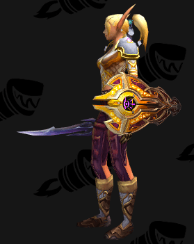 Plate Transmog - Protective Barricade - Side View