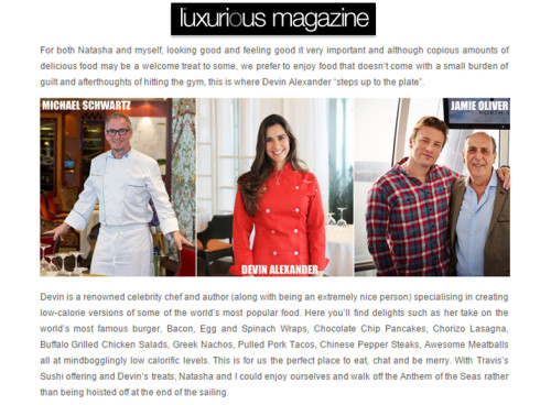 Devinly Decadence featured in Luxurious Magazine