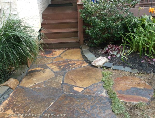 natural stone hardscape ideas