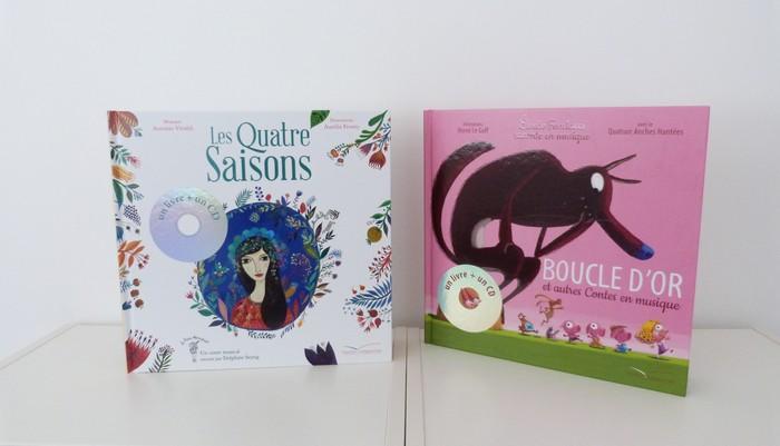 Livres-CD Les 4 saisons + Boucle d'or et autres contes en musique