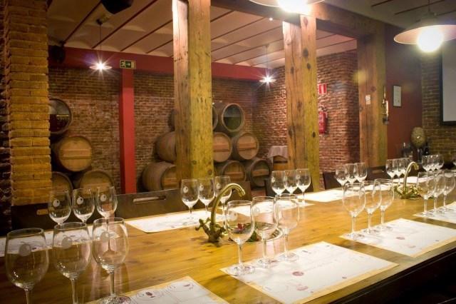 Sala de degustación en Centro de Experiencias y Escuela del Vino - La rebelión de los Mandiles- Fuente: Grupo Vinotivm