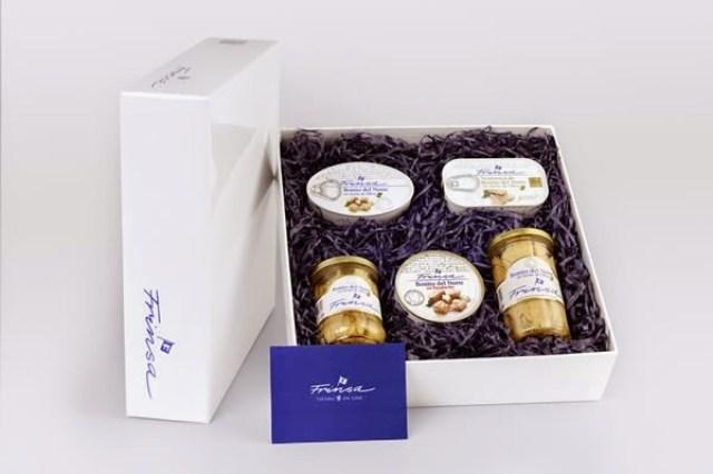 Caja variada de productos de conserva Frinsa. Fuente: Frinsa