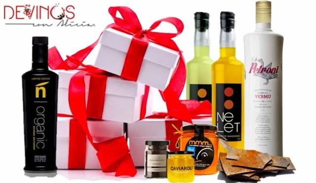 Selección Gourmet Devinos con Alicia como regalos para esta navidad. Fuente: Devinos con Alici
