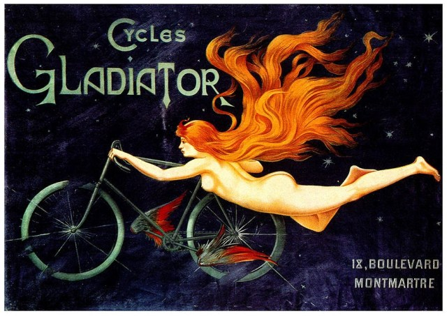 Image of the Cycles Gladiator labels Source [on line]: images.fineartamerica.com