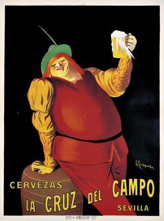 Cartel publicitario histórico de Cervezas Cruz Campo. Fuente [en linea]: blogs.hoy.es