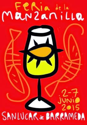 Cartel de la Feria de la Manzanilla de Sanlucar de Barrameda 2015 . Fuente [en línea]: www.sanlucardebarrameda.tv