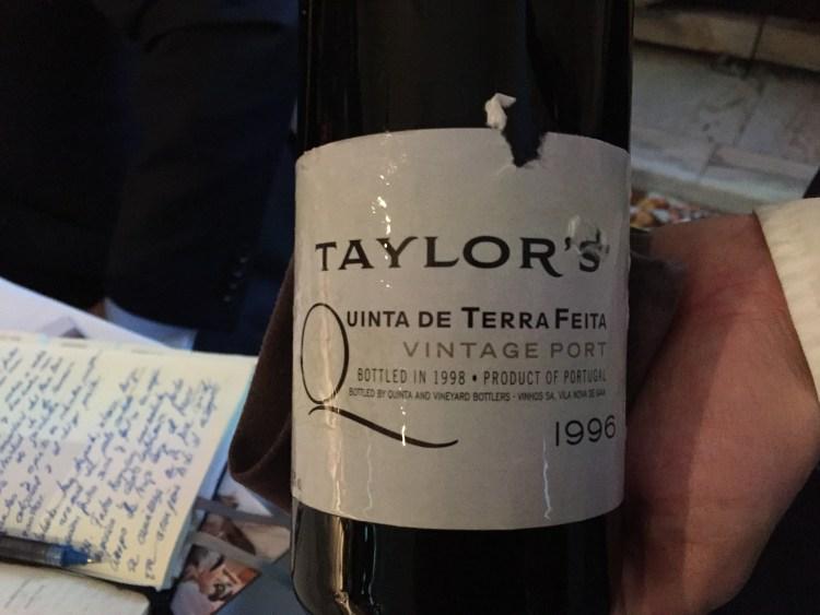 Taylor's Quinta de Terra Feita Vintage 1996 Devinos con Alicia Coque