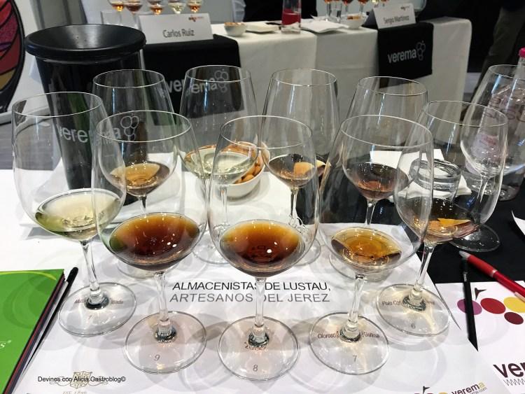 Cata de Almacenistas Lustau en Verema Vinos Especiales 2017. Copyright: www.devinosconalicia.com
