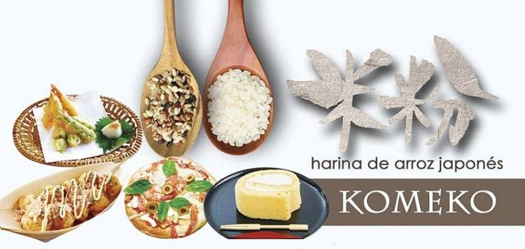 Komeko, harina de arroz japonés.