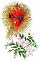 [Corazón de Jesús, paloma y flor]