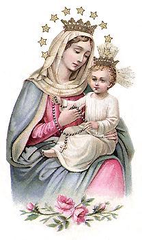 [Nuestra Señora del Rosario. Estampa antigua]