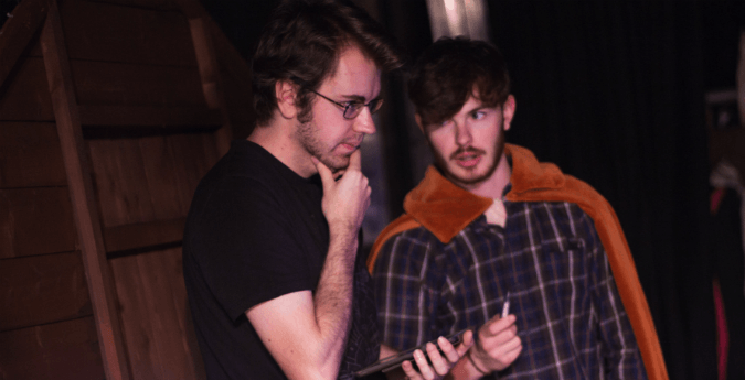 Director Dom Lee with 1st AD Tommy Gillard. Courtesy of Harrison Willmott