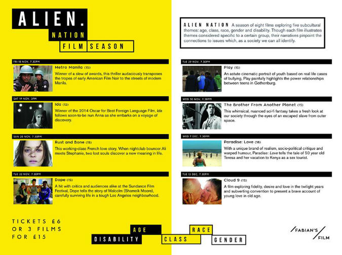 Eight films, five subcultural themes: Alien Nation season at Exeter's Studio 74