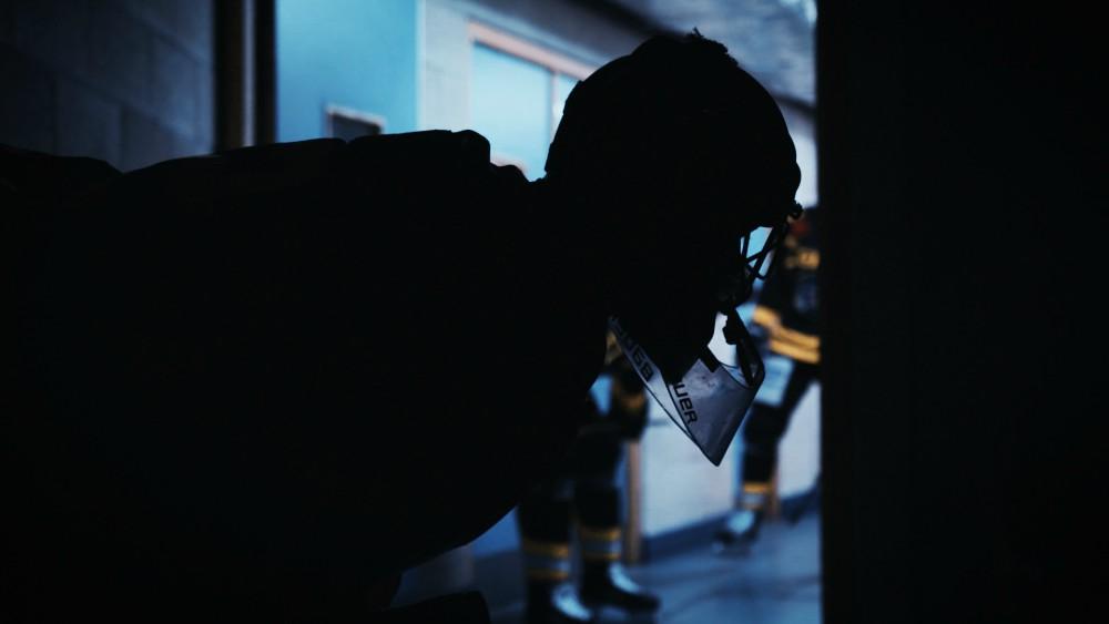 Nottingham Panthers Ice Hockey documentary still by Jake Cauty