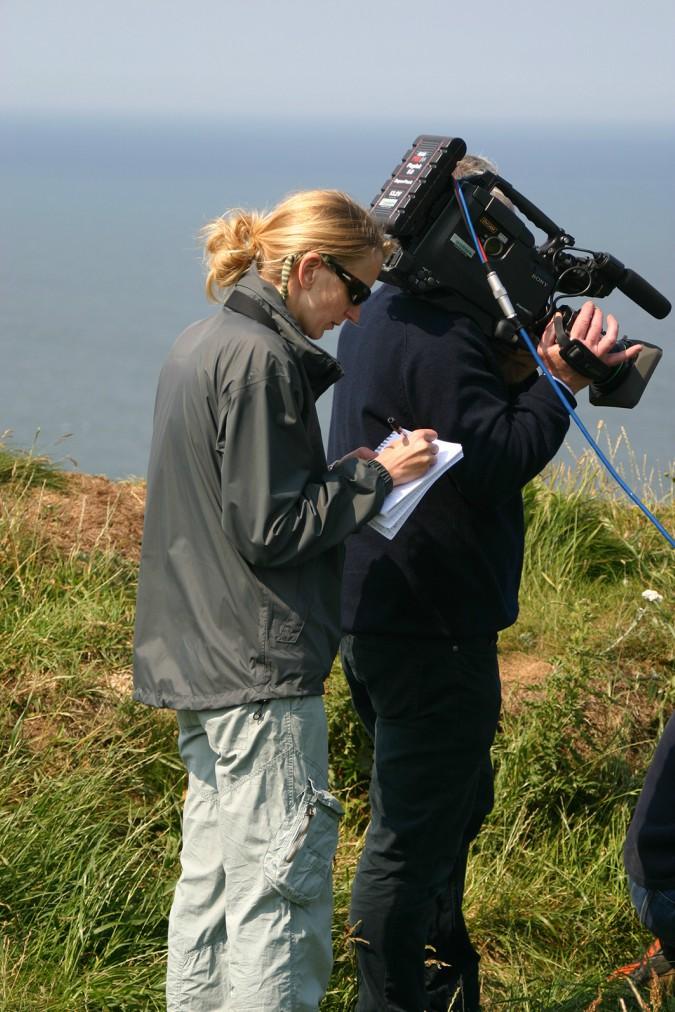 Hannah Mattison directing Coast shoot. Courtesy of Freya Short