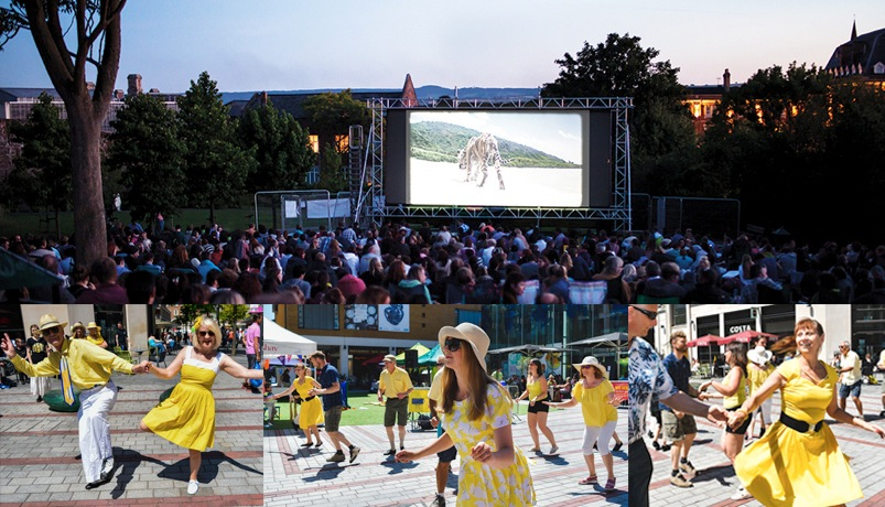 Flashmob to celebrate Exeter's Big Screen In The Park Launch