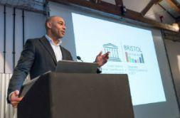 Mayor of Bristol Marvin Rees presents Bristol UNESCO City of Film
