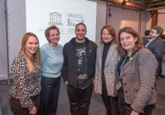 Natalie Moore (Bristol UNESCO City of Film), Fiona Francombe (Bottle Yard), Adam Murray (Come the Revolution), Lynn Barlow (RTS), Laura Pye (BCC Head of Culture)