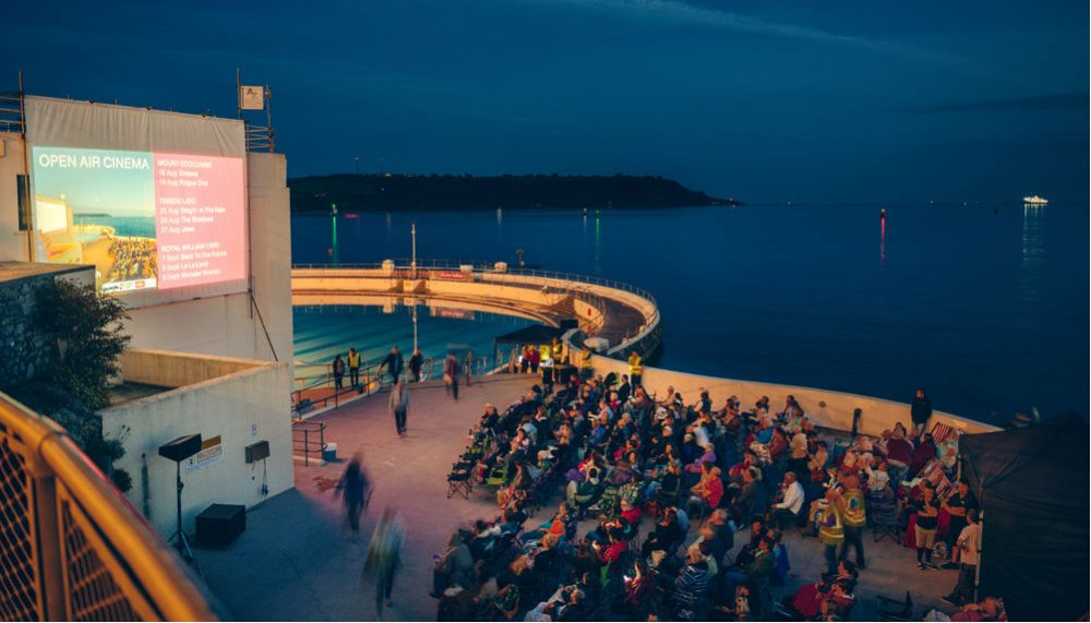 Watch films under the stars at Plymouth Arts Centre's unique Open Air Cinema by the sea
