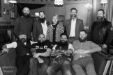 South West Beard Club with co - owner of one of the locations owner Sarah Bell of the Lucky 7 Club