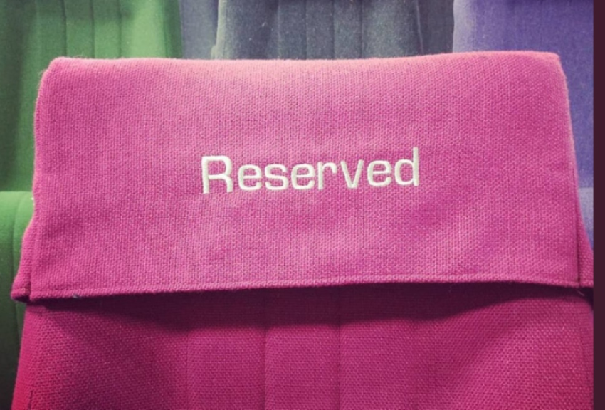 Plymouth Arts Centre Cinema seat with reserved on it