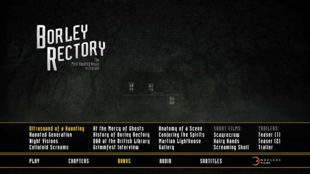 Borley Rectory Blu-ray screen