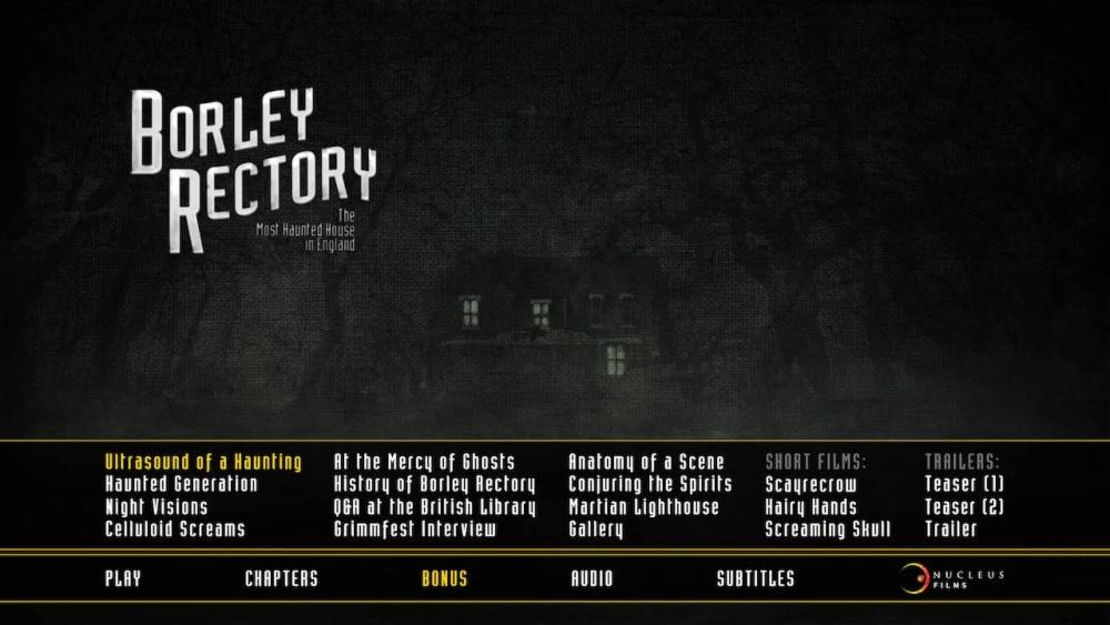 Borley Rectory Blu-ray screen