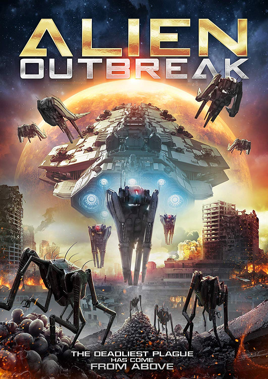 a poster for alien outbreak